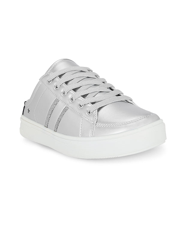 Satine Silver Slip-on Sneakers