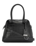 Iva Croco Black Handbag
