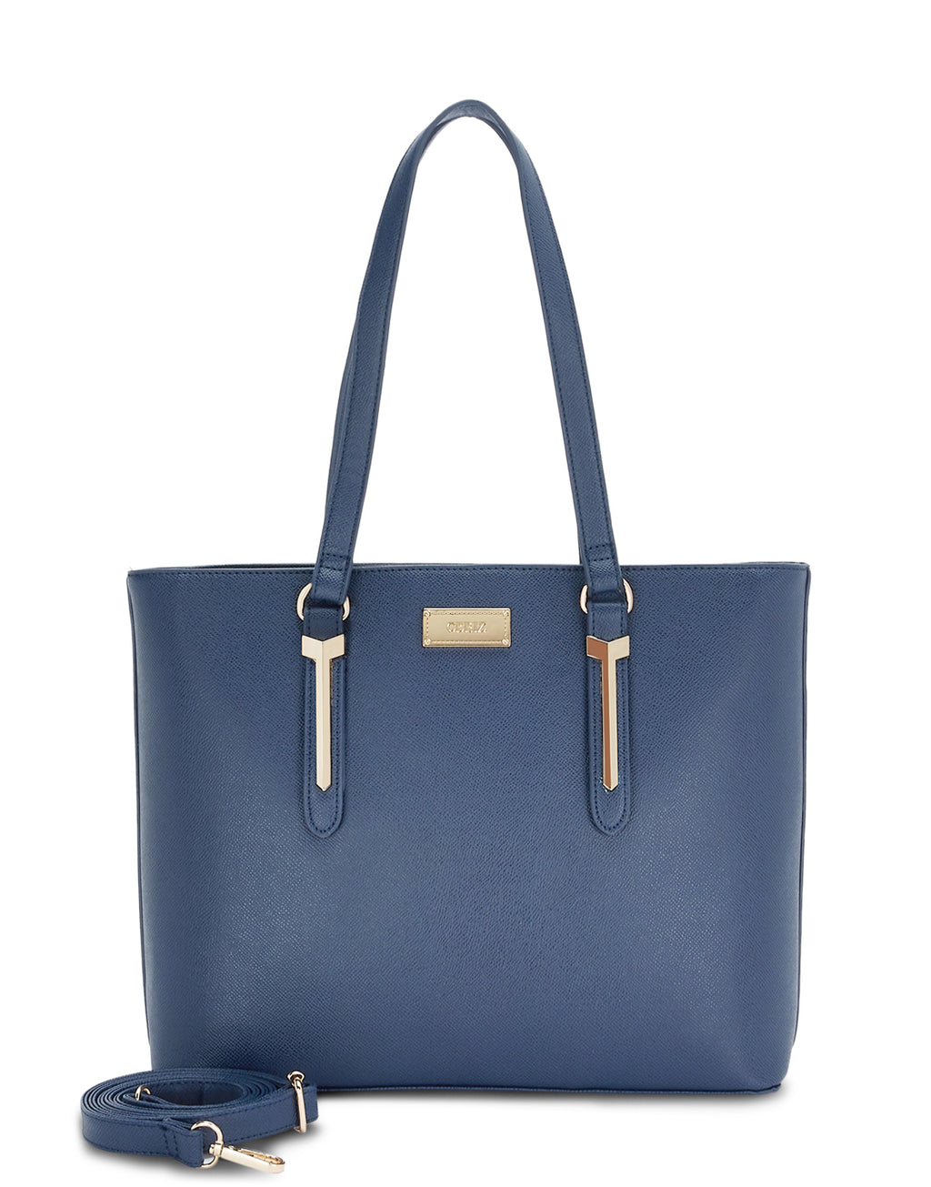 Fabienne Textured Navy Tote