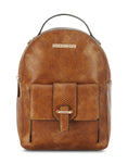 Pommelraie Tan Zip Closure Backpack