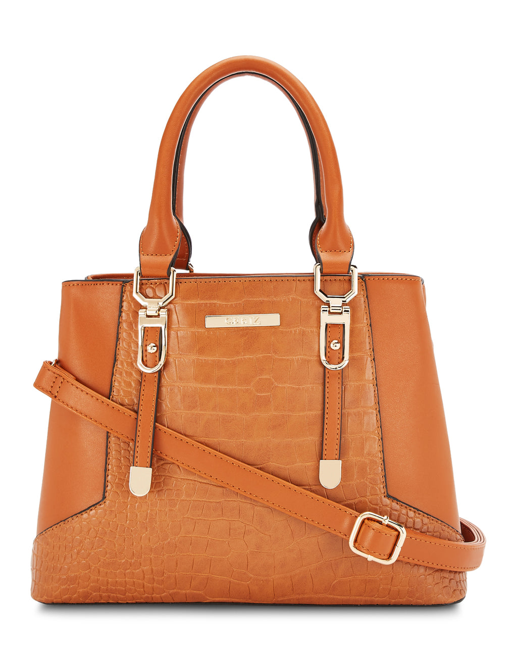 Afrodille Structured Tan Handbag