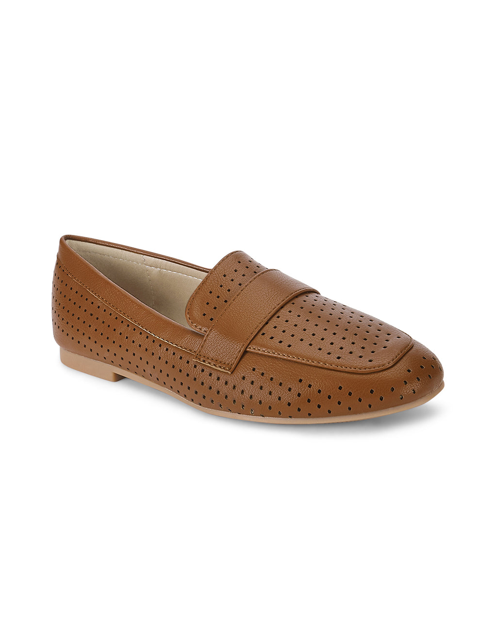 Claire Sleek Tan Loafers