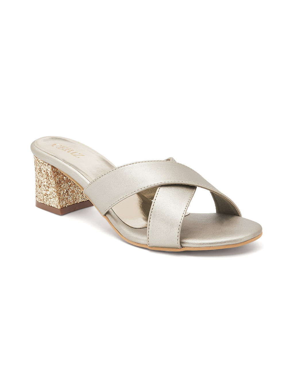 Lucienne Gold Slip On Sandals