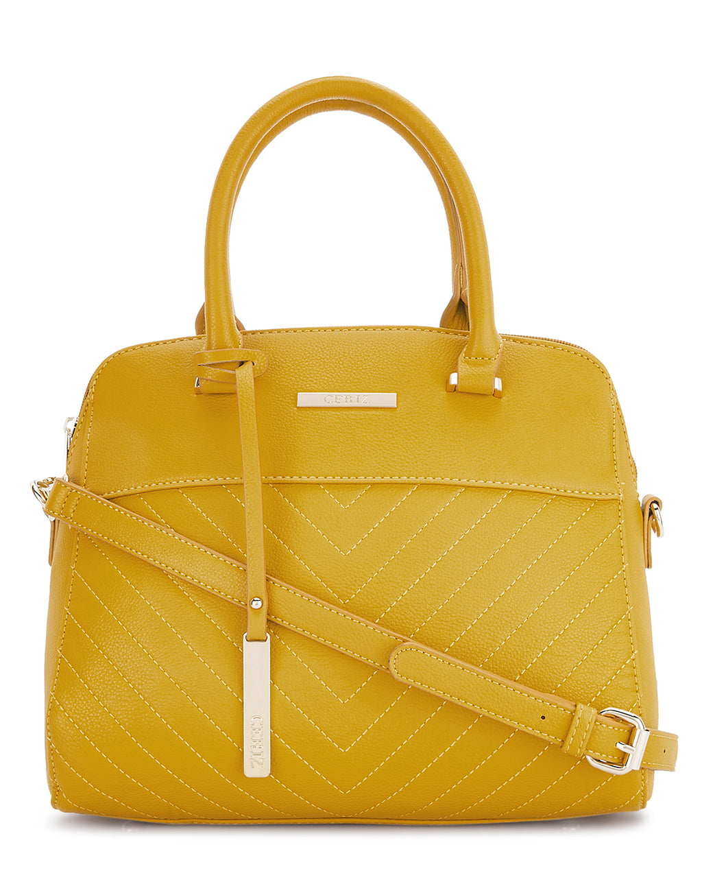 Odilla Yellow Detachable Strap Handbag