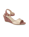 Dianne Nude Metallic Wedges
