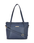 Margit Textured Navy Handbag
