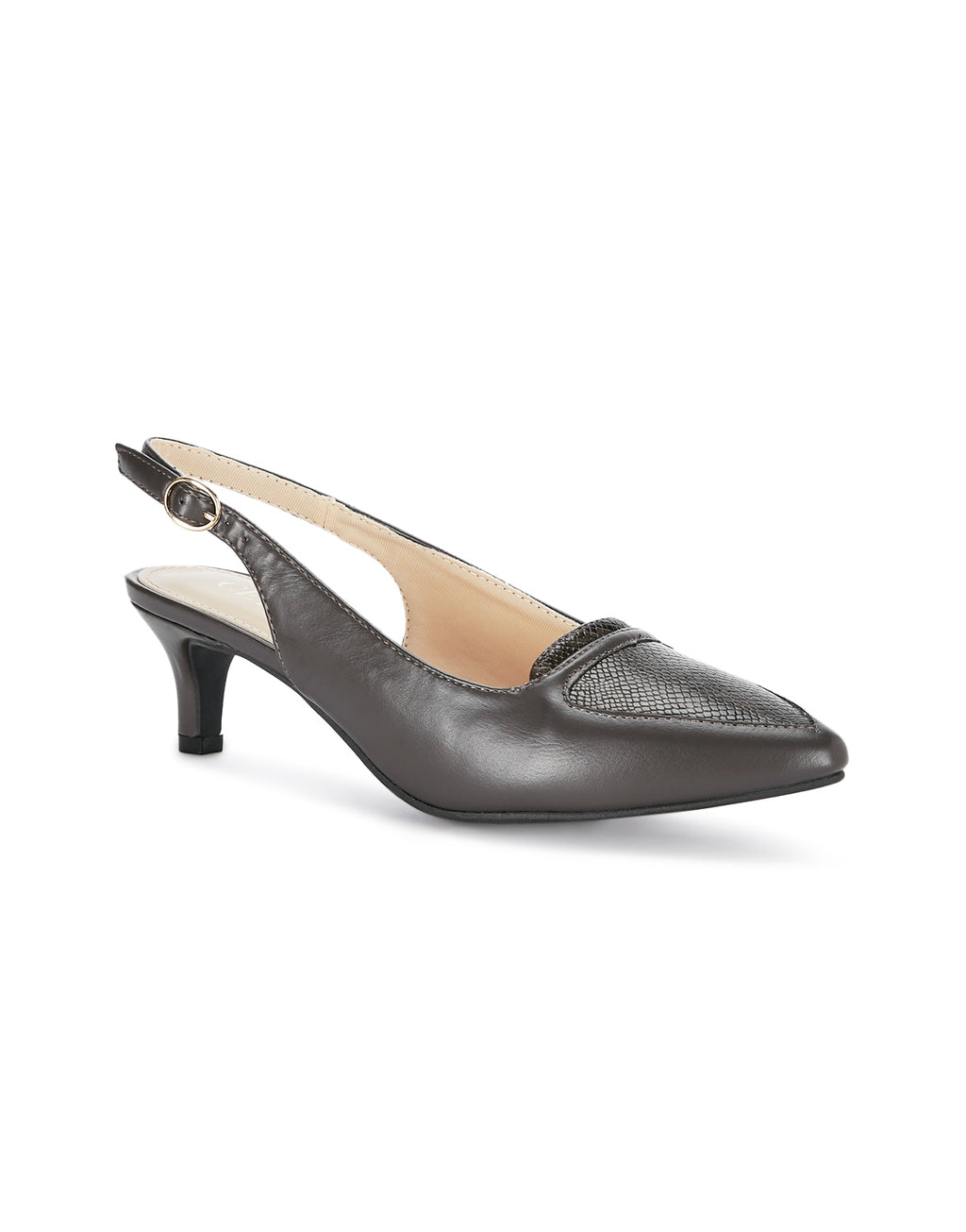 Camille Elegant Grey Pumps