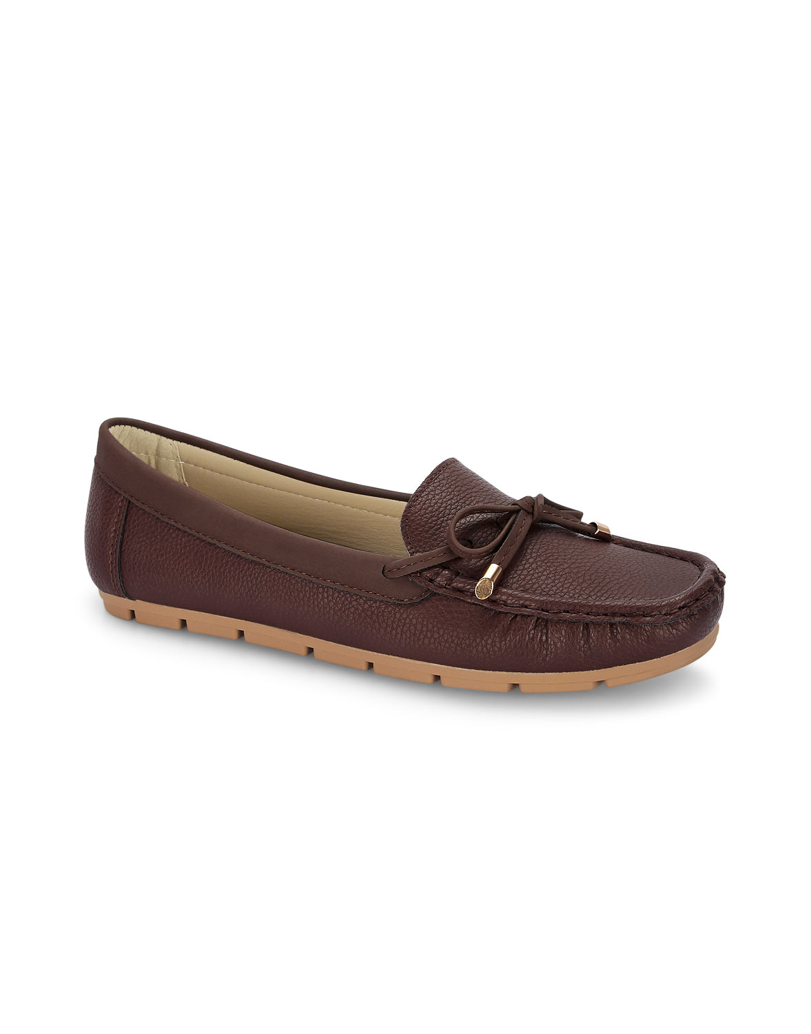 Olivier Brown Round Toe Loafers