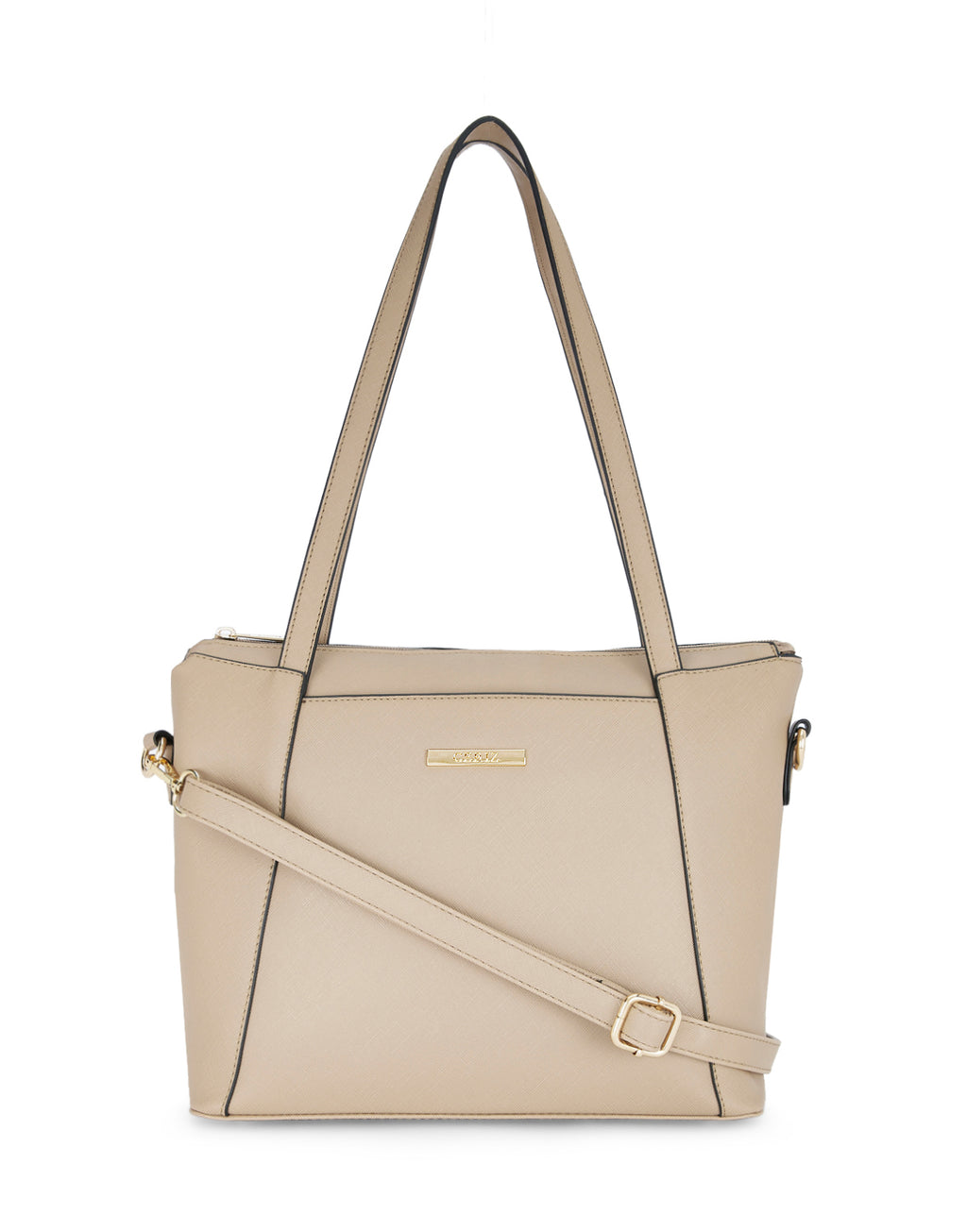 Margit Textured Beige Handbag