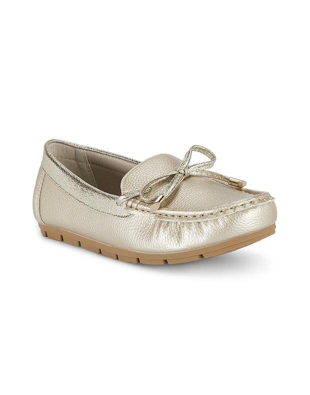 Louise Gold Loafers