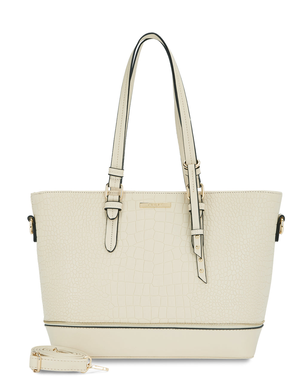 Louella Trendsetter Ivory Tote