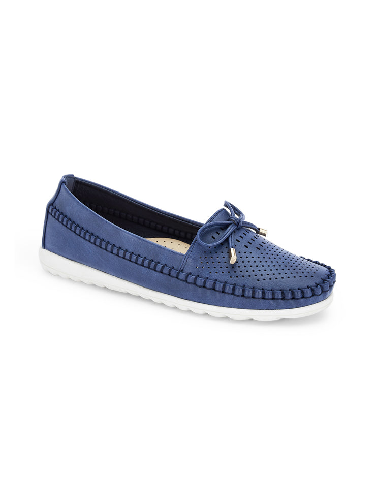 Selene Navy Loafers