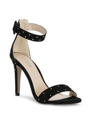Rose Black Stilettos