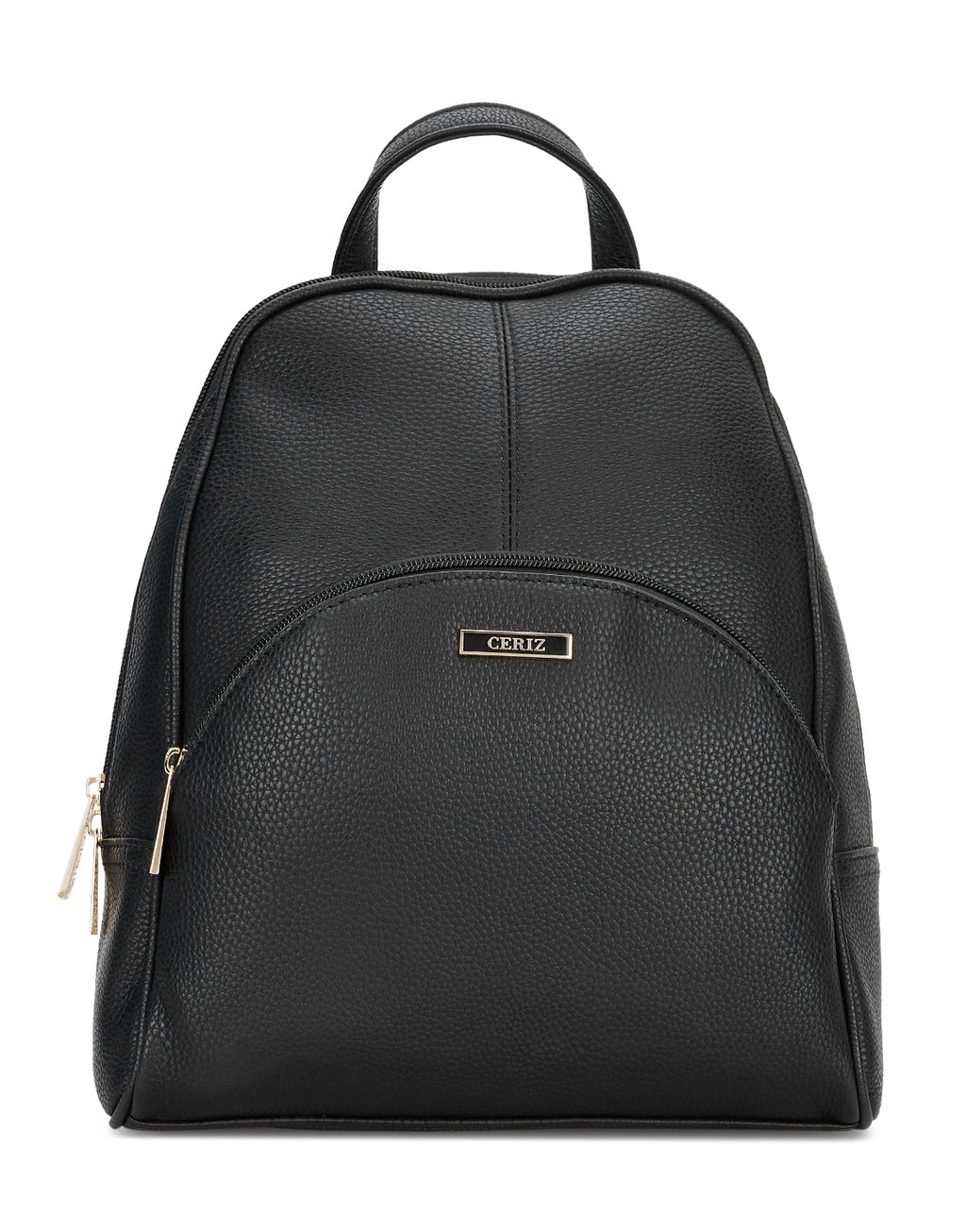 Emblyn Black Faux Leather Backpack