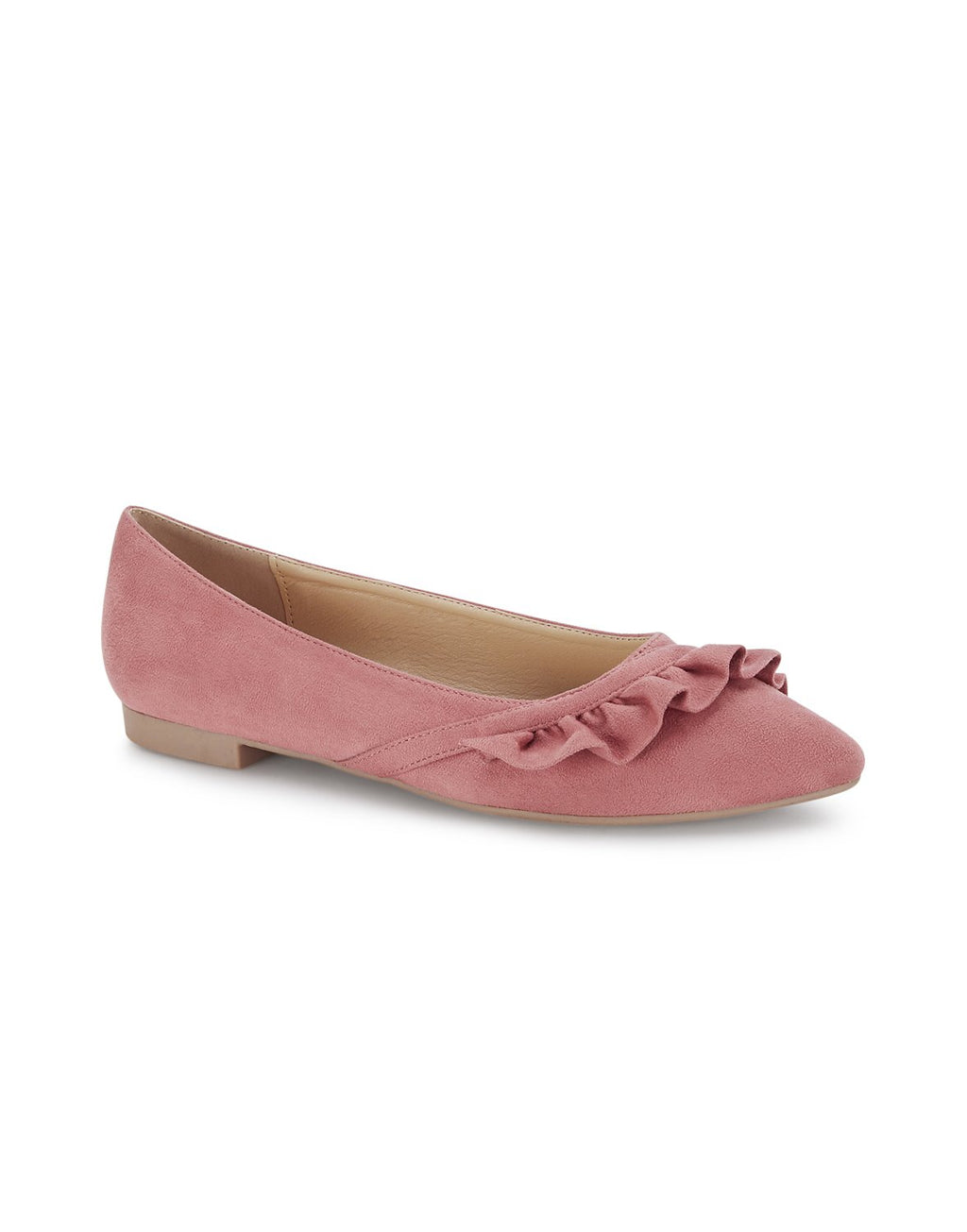 Raphaëlle Peach Pointed Toe Ballerinas