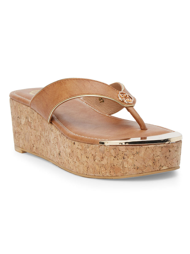 Ella Open Toe Tan Sandals