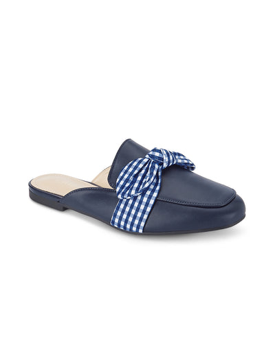 Elena Navy Slip-On Loafers