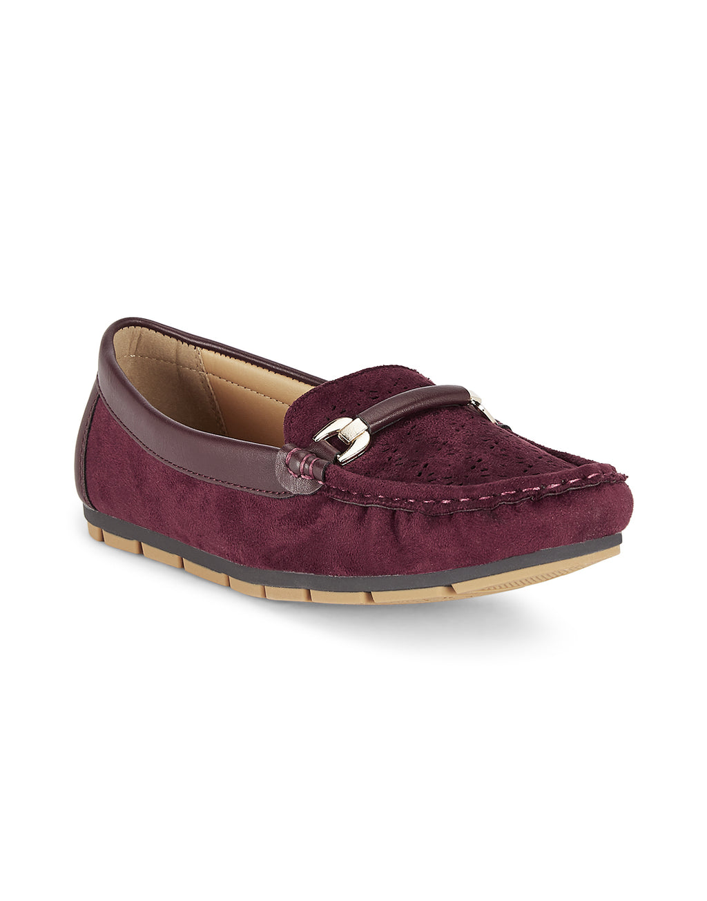 Adaline Burgundy Loafers