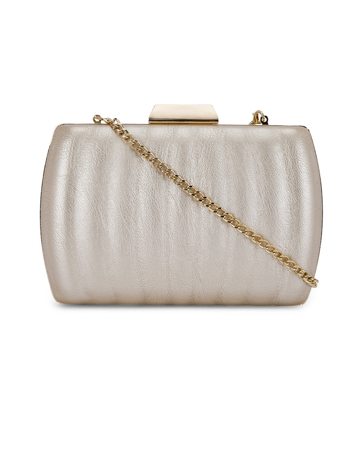 Nephele Gold Clutch