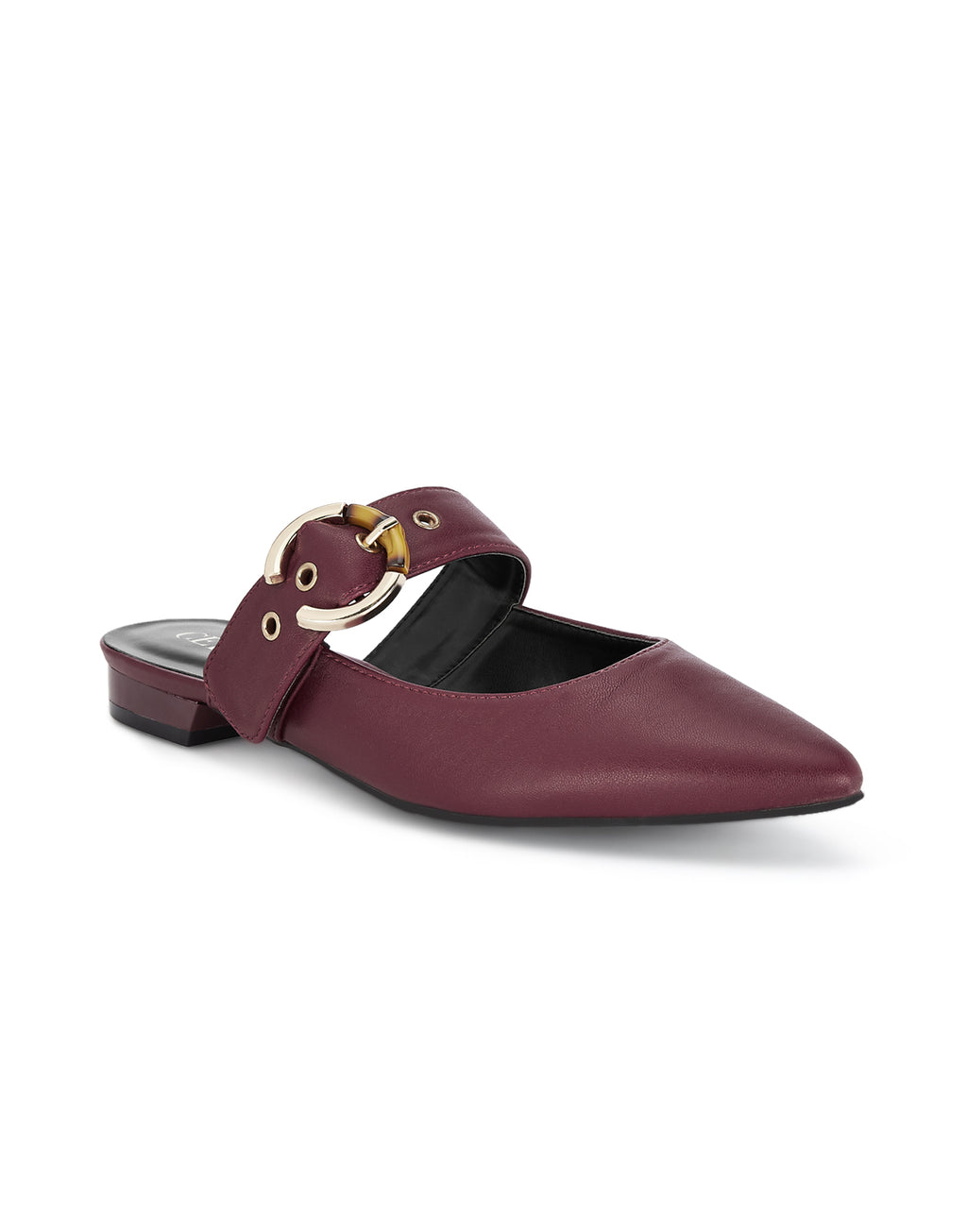 Madeleine Burgundy Slip-on Loafers