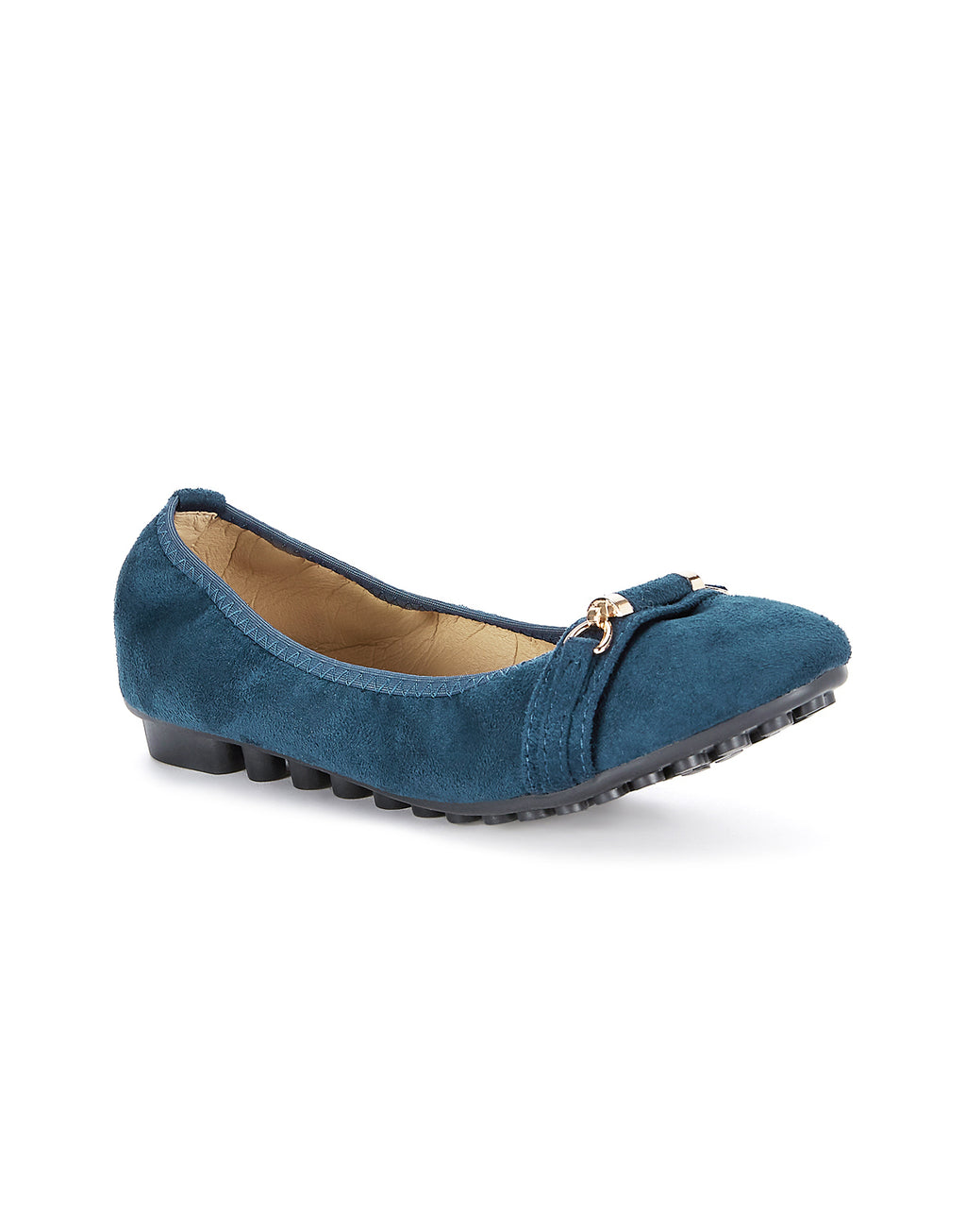 Lucia Smart Navy Ballerinas