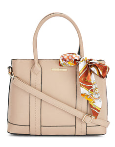 Toni Beige Faux Leather Handbag