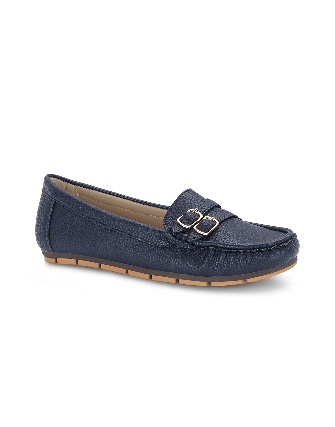 Verney Navy Round Toe Loafers