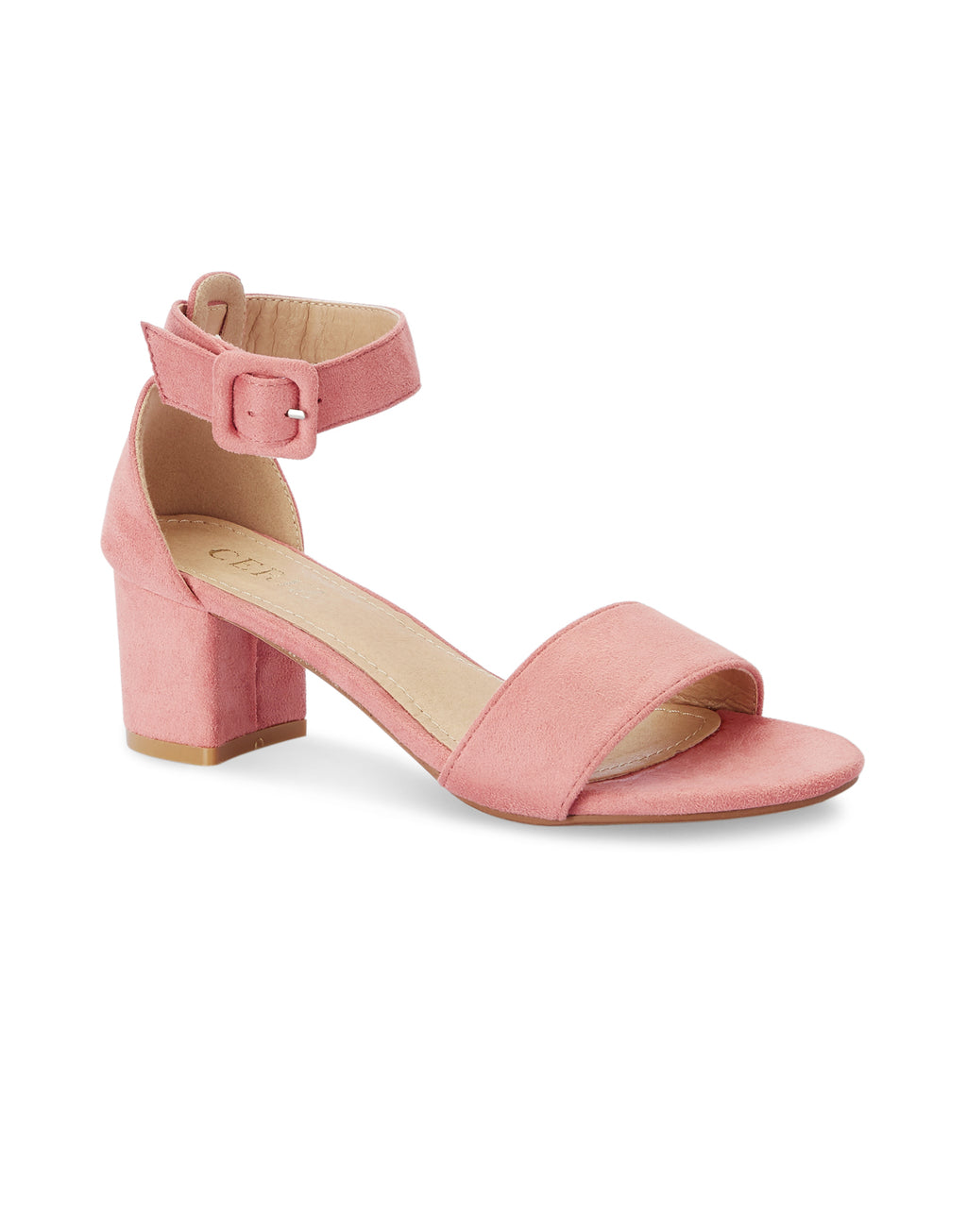 Anouk Pink Block Heel Sandals