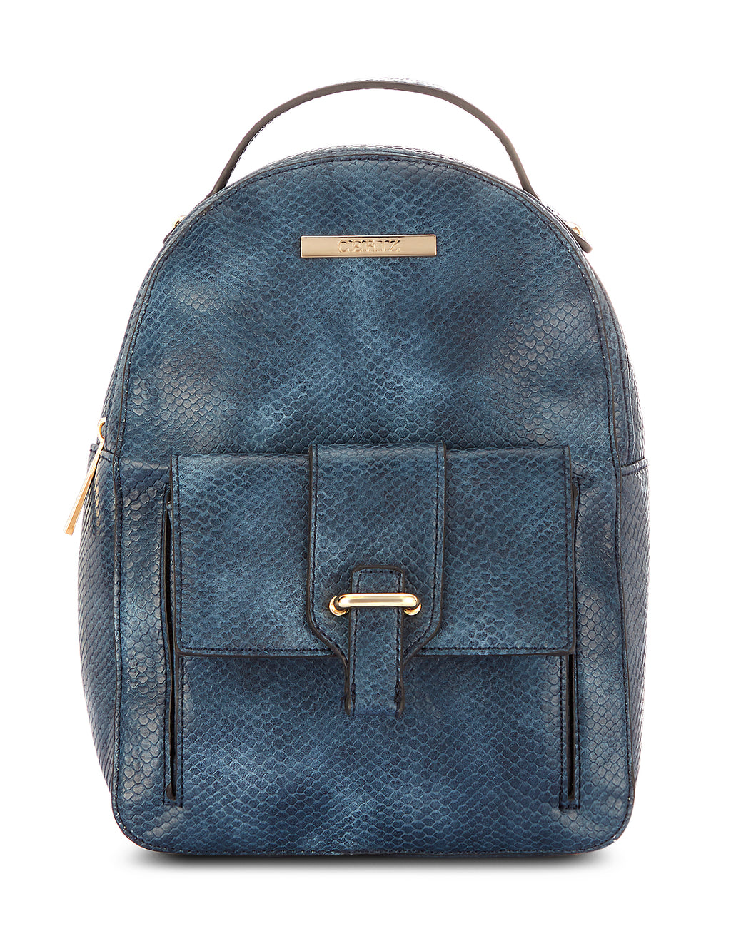 Pommelraie Navy Zip Closure Backpack