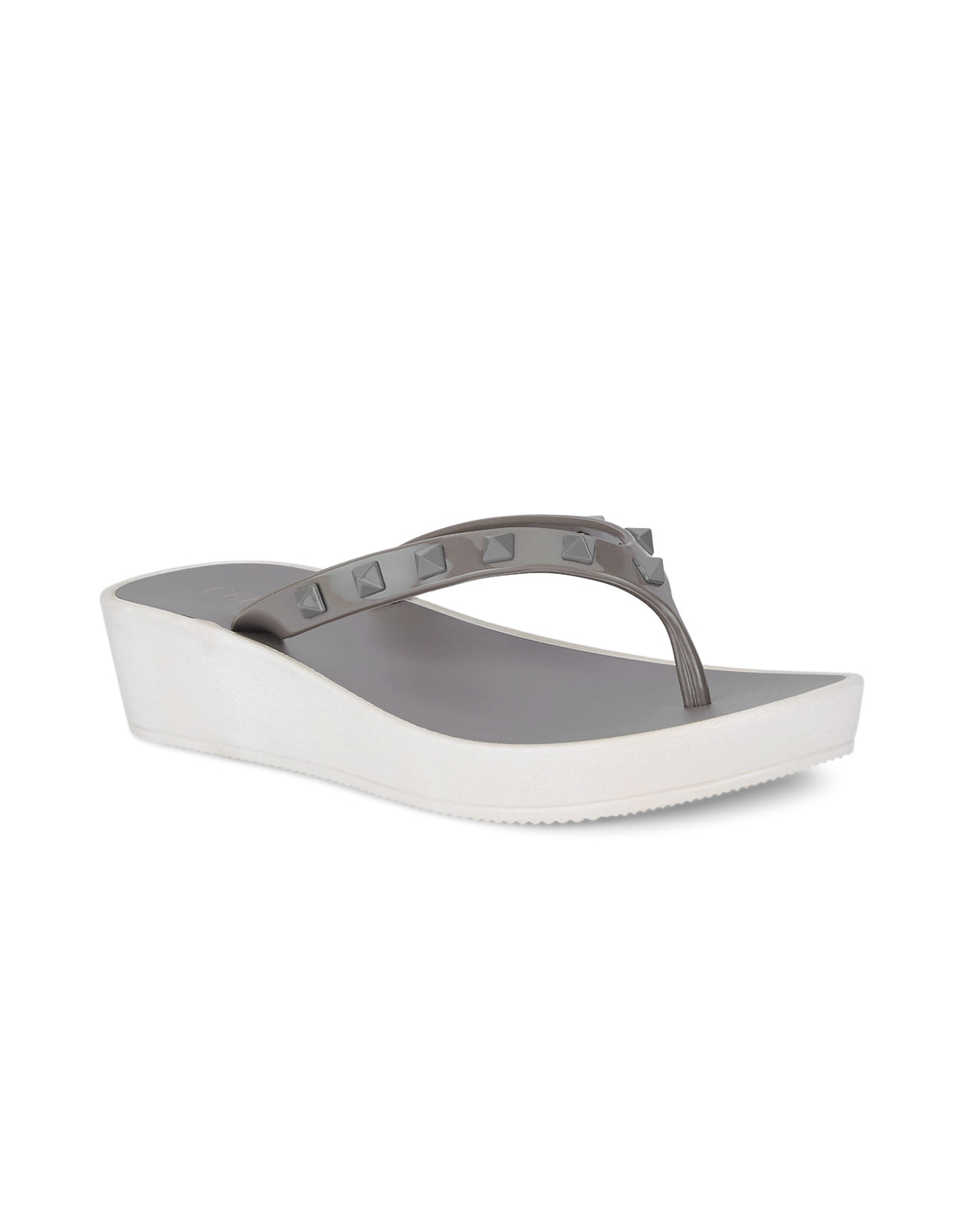 Esme Voguish Grey Open Toe Flats