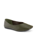 Rochelle Novel Olive Ballerinas