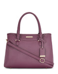 Ambroise Monochrome Burgundy Handbag