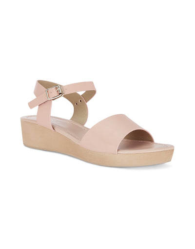 Colette Nude Wedge Sandals