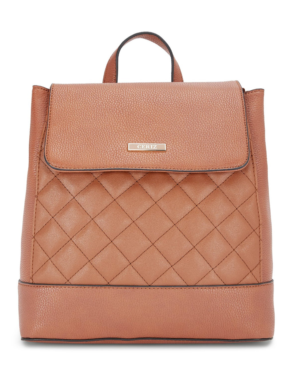 Grande Quilted Rust Backpack