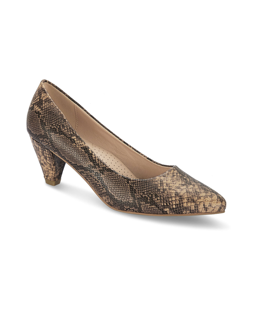 Renee Skin Pointed-Toe Pumps
