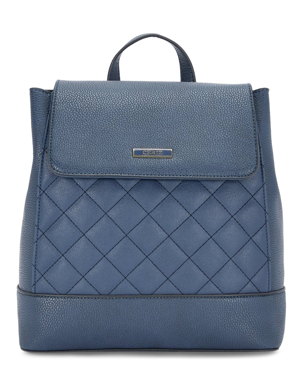 Grande Quilted Navy Backpack
