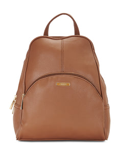 Emblyn Brown Faux Leather Backpack