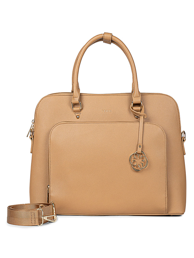 Louie Beige Laptop Bag