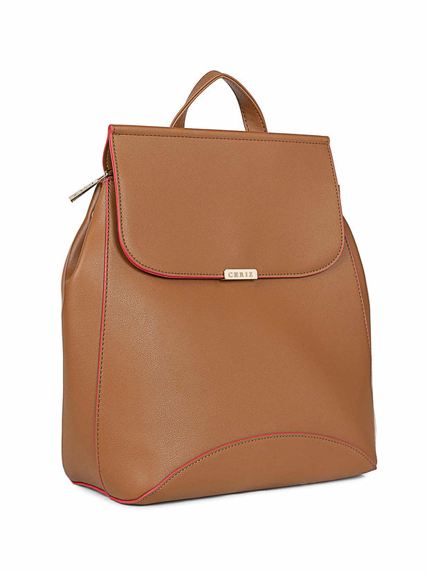 Angelique Medium Tan Backpack 2