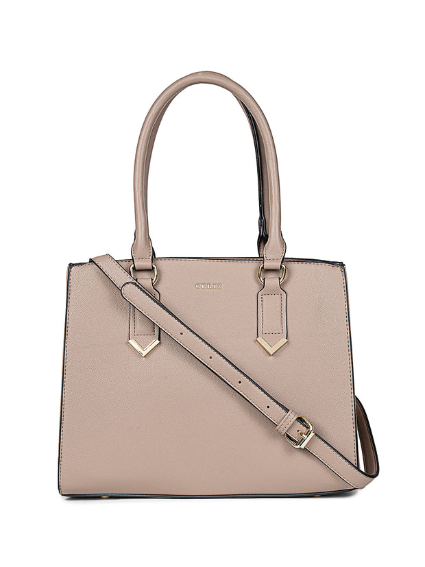 Evelyn Taupe Handbag