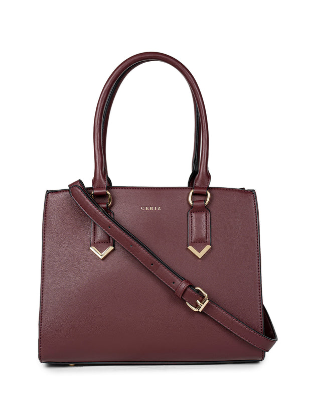 Evelyn Maroon Handbag