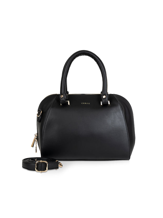 Faustina Chic Black Handbag