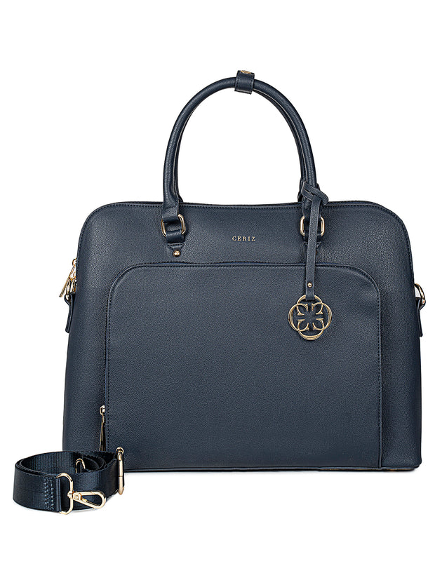 Louie Navy Laptop Bag