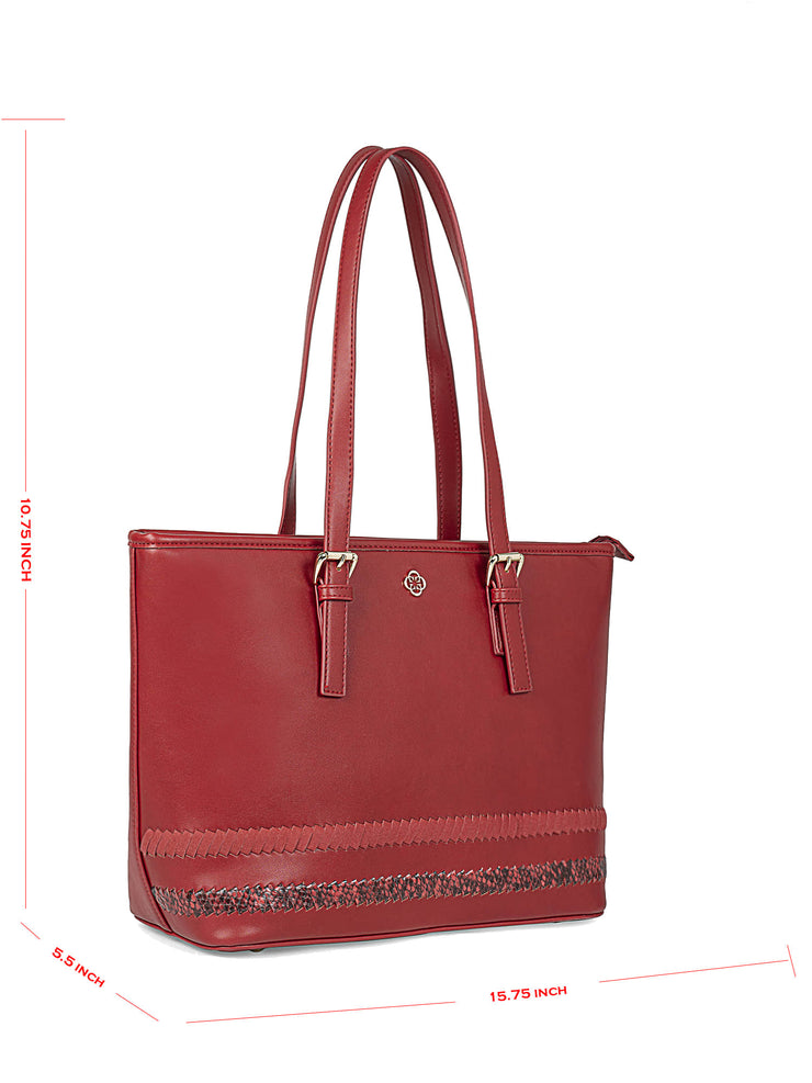 Gardenia Adventurous Red Tote