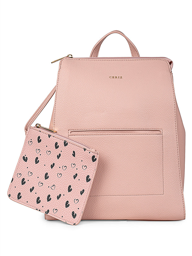 Elettra Casual Light Pink Backpack