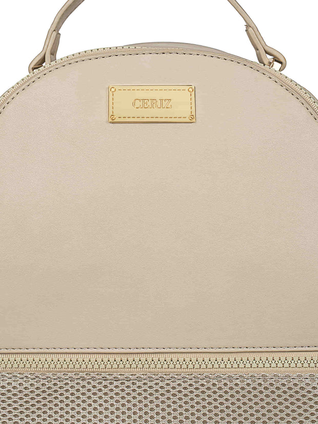 Bernice Sporty Beige Backpack 4