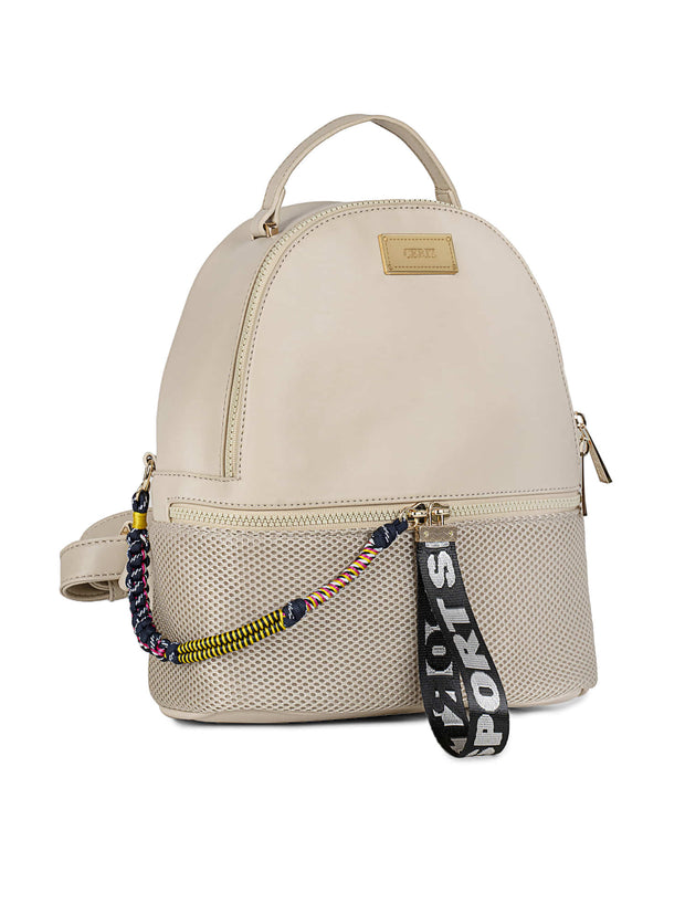 Bernice Sporty Beige Backpack 1