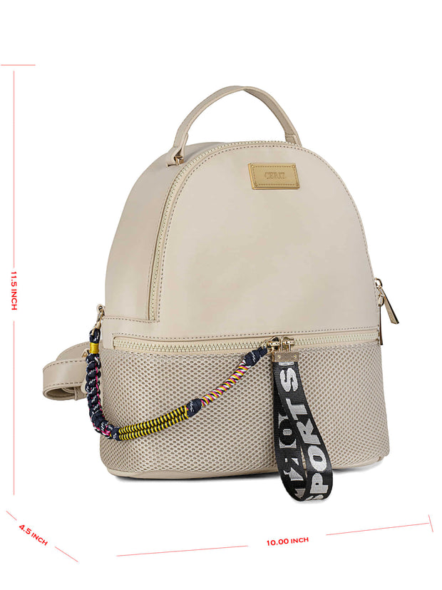 Bernice Sporty Beige Backpack 5