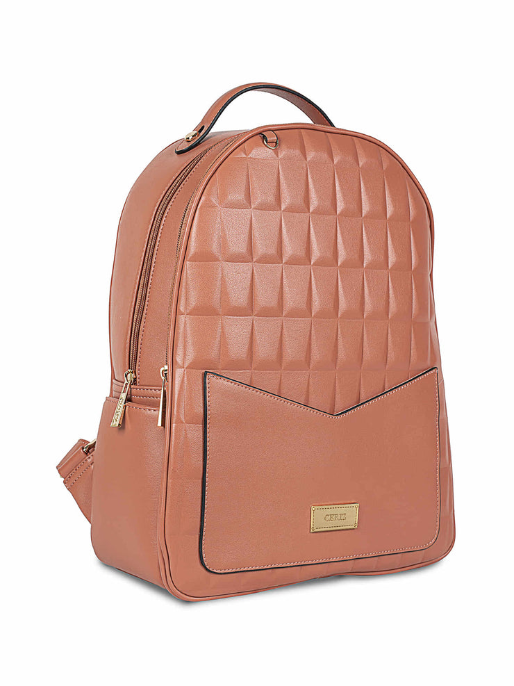 Gwendolyn Large Cantaloupe Backpack 1
