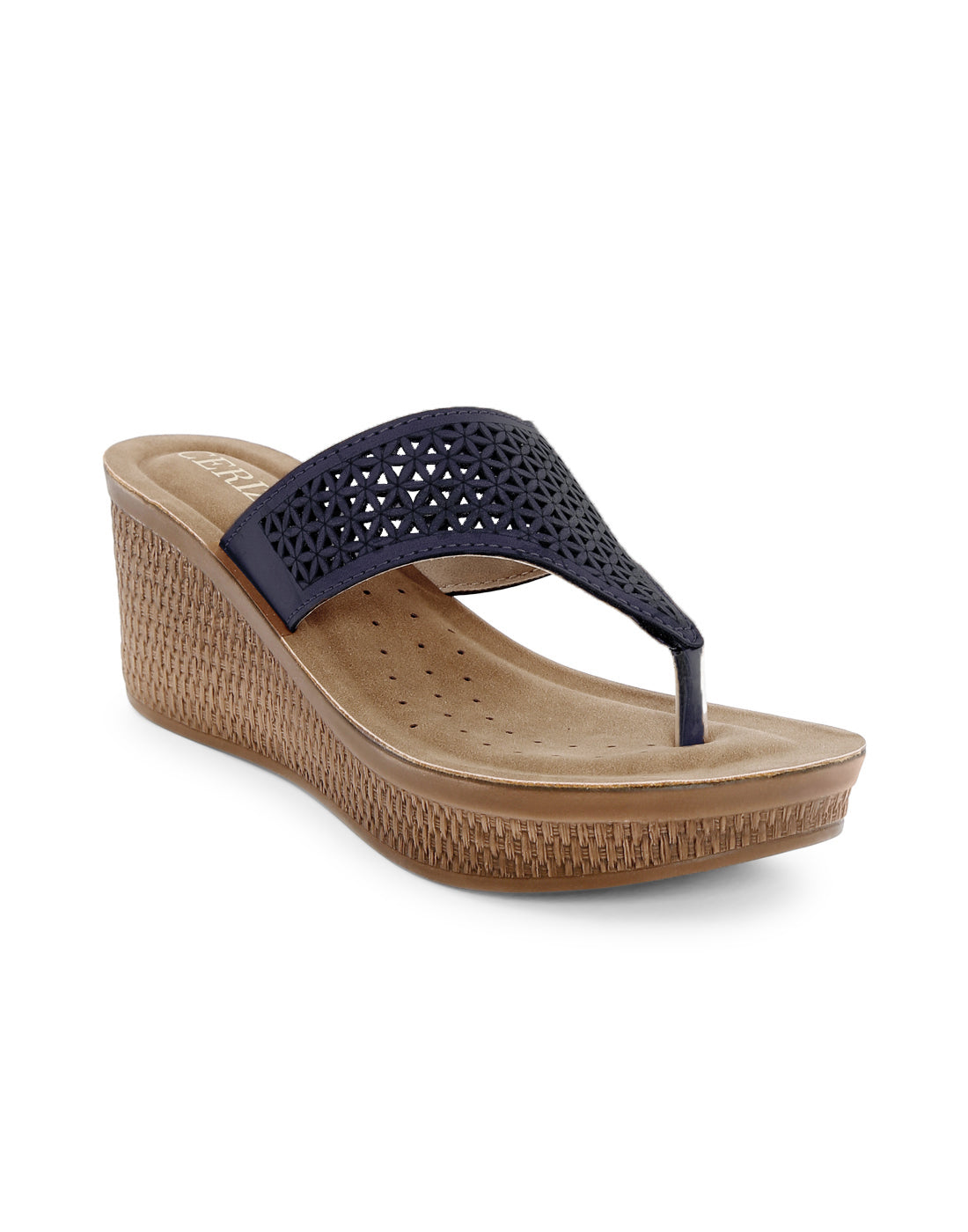Descria Laser Cut Navy Wedges